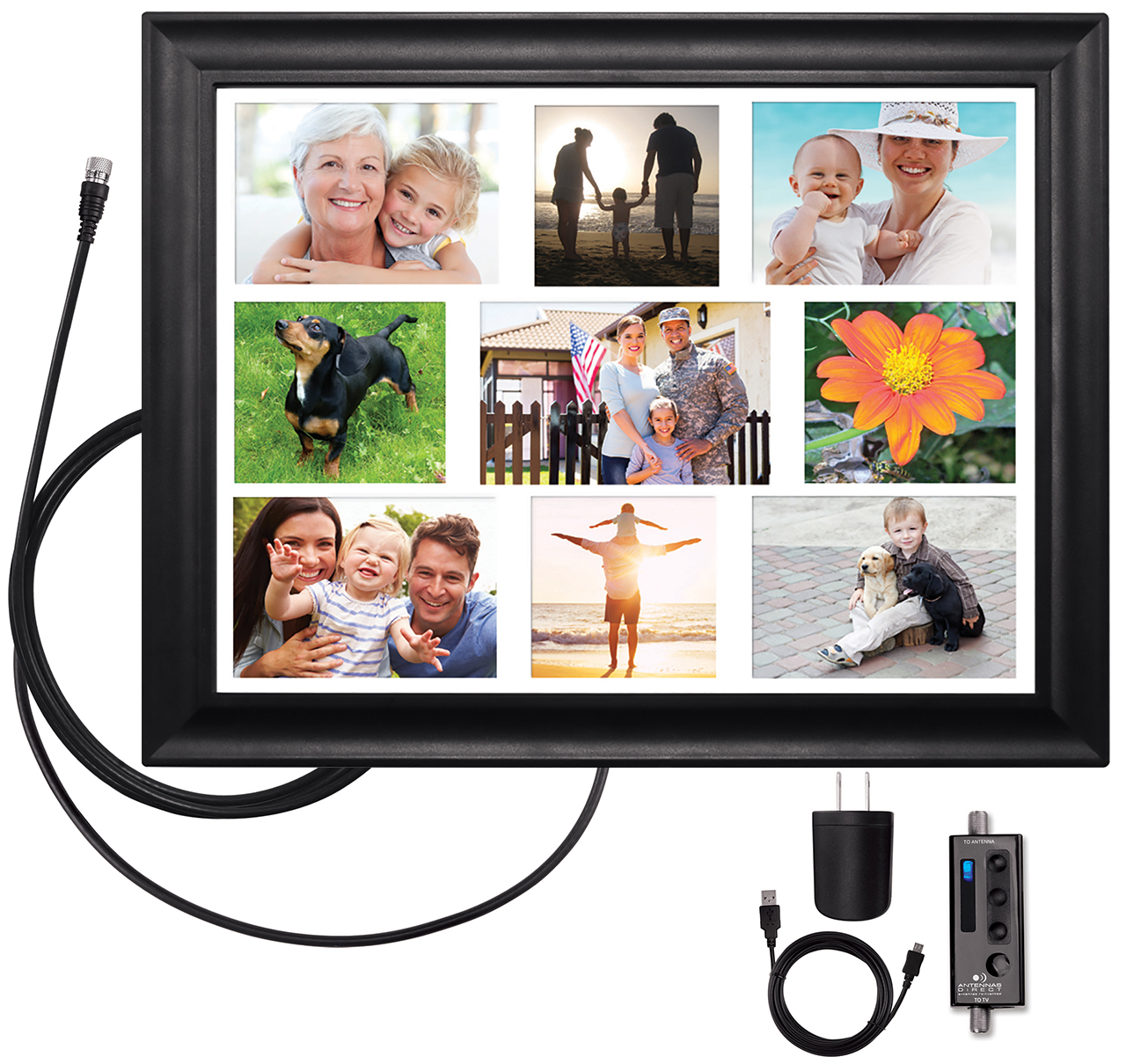 https://www.antennasdirect.com - ClearStream VIEW Wall Frame Amplified Indoor HDTV Antenna 39.99 USD